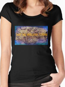 .Take The World By Storm Women's Fitted Scoop T-Shirt