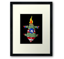 Dropping bombs Framed Print