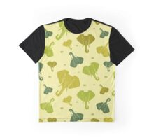 Elephants. Seamless pattern. Green. Graphic T-Shirt