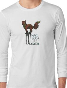 Flounce, the Fox on Stilts (Sky) Long Sleeve T-Shirt