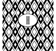 H diamonds Photographic Print