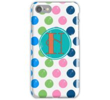 Polka Dot H iPhone Case/Skin