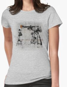 Megatron - Peace Through Botany (Wall) Womens Fitted T-Shirt