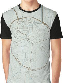 Leuven Map (Winter) Graphic T-Shirt
