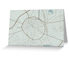 Leuven Map (Winter) Greeting Card
