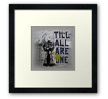 Rumble - Til All Are One Framed Print