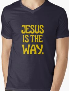 Jesus is The Way (y) Mens V-Neck T-Shirt