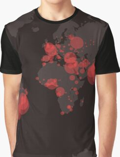 Infection Map Graphic T-Shirt