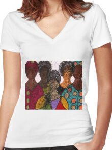 Five Alive Women's Fitted V-Neck T-Shirt