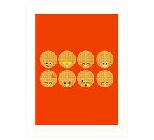 Emoji Building - Waffles Art Print