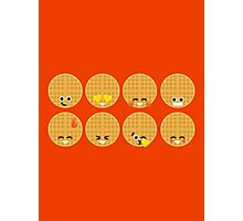 Emoji Building - Waffles Photographic Print