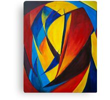 Red, Blue and Yellow Heart Canvas Print