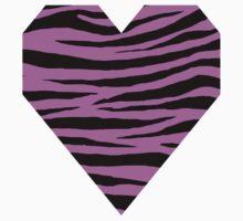 0542 Pink Flamingo Tiger Kids Tee