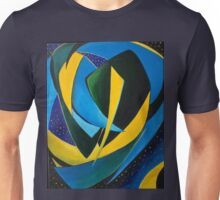Green, Blue, Yellow Heart (Brazilian flag) Unisex T-Shirt