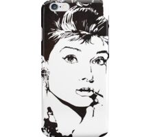 Black and White Audrey Hepburn iPhone Case/Skin
