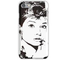 Black and White Audrey Hepburn iPhone Case/Skin