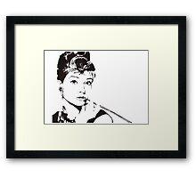 Black and White Audrey Hepburn Framed Print