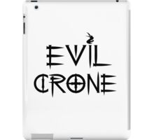 Funny Humorous Black Text Evil Crone iPad Case/Skin
