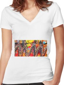The Roller Coaster Women's Fitted V-Neck T-Shirt