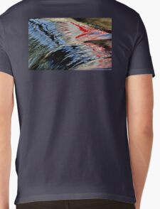 Reflections of a Sign on High Falls, Muskoka, ON, Canada Mens V-Neck T-Shirt