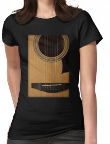 Acoustic Guitar Tee Womens Fitted T-Shirt