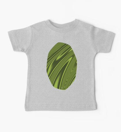 Abstract Fractal Colorways 03 Malalchite Lime Green Baby Tee