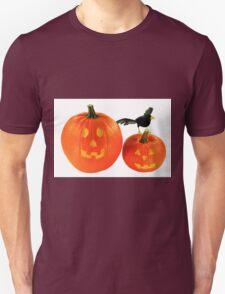 Halloween decoration over white background  Unisex T-Shirt