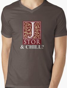 JSTOR and Chill? Mens V-Neck T-Shirt