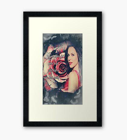 Lana Parrilla Red Rose Framed Print