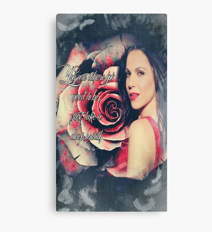 Lana Parrilla Red Rose Canvas Print