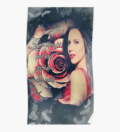 Lana Parrilla Red Rose Poster