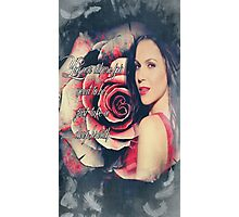 Lana Parrilla Red Rose Photographic Print