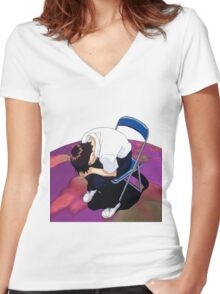 Shinji Neon genesis evangelion Women's Fitted V-Neck T-Shirt