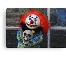 Halloween Killer Clown Doll Canvas Print
