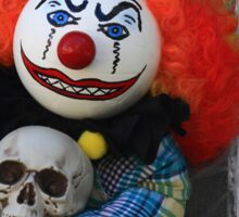 Halloween Killer Clown Doll Sticker