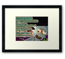 Rick & Morty 100 years Framed Print