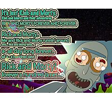 Rick & Morty 100 years Photographic Print
