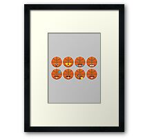 Emoji Building - Basketball Framed Print