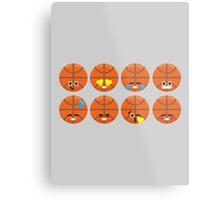 Emoji Building - Basketball Metal Print