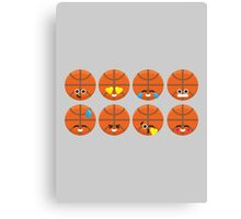 Emoji Building - Basketball Canvas Print