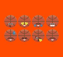 Emoji Building - Basketball Kids Tee