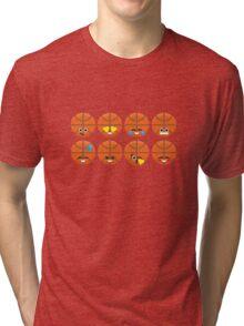 Emoji Building - Basketball Tri-blend T-Shirt