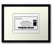 Doctor's Card Framed Print