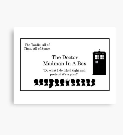 Doctor's Card Canvas Print