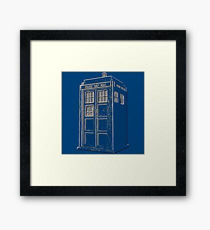 Tardis Blue Framed Print