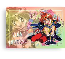 Lina with flowers Canvas Print