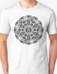 Hamsa Eye Lotus Mandala - Black Unisex T-Shirt