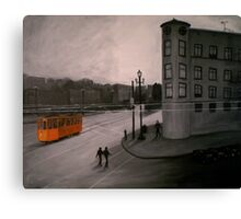 San Francisco - Orange Trolley Canvas Print