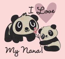 Kids Panda Bears Love My Nana Kids Tee