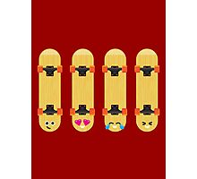 Emoji Building - Skateboards Photographic Print